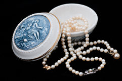 Porcelain Jewelry Box Stock Image
