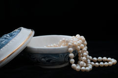 Porcelain Jewelry Box Royalty Free Stock Images