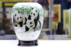 The Porcelain. The Landscape painting porcelain made in china Stock Images