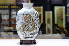 The Porcelain. The Landscape painting porcelain made in china Stock Photography
