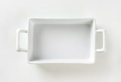 Porcelain Lasagna Pan Royalty Free Stock Photography
