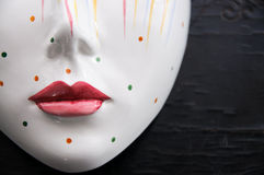 Porcelain Mask Close Up Royalty Free Stock Images