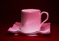 Porcelain mug and saucer Royalty Free Stock Image