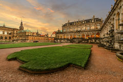 The Porcelain Museum in Dresden in the evening, Germany Royalty Free Stock Photo