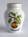 Porcelain nutmeg Jar Royalty Free Stock Photography