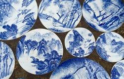 Porcelain painting Stock Photos