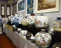 Porcelain and paintings Royalty Free Stock Photo