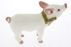 Porcelain piglet Royalty Free Stock Image