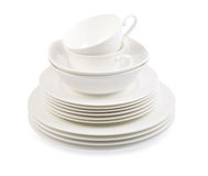 Porcelain plate  on white Stock Photography