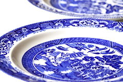 Porcelain plates Royalty Free Stock Photo