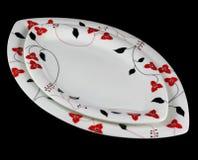 Porcelain Plates Royalty Free Stock Photos