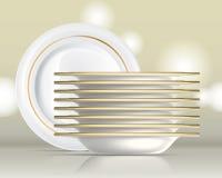 Porcelain Plates Set 1 Stock Image
