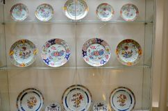Porcelain plates tops of the Austrian empire Royalty Free Stock Photo