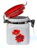 Porcelain pot Stock Photo
