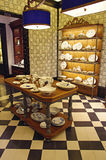 Porcelain pottery shop. Italian porcelain pottery store showroom in Florence, Italy Royalty Free Stock Photos