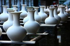 Porcelain production. In factory,JingDeZhen China Royalty Free Stock Photos