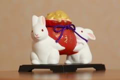 Porcelain rabbit Royalty Free Stock Photos