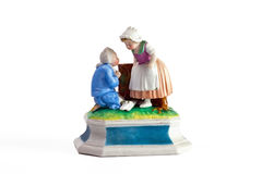 Porcelain sculpture of Cinderella Royalty Free Stock Images