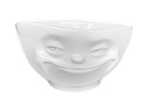 Porcelain with smiling face Royalty Free Stock Images