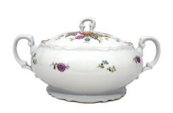 Porcelain soup tureen Stock Images