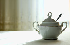 Porcelain sugar-basin Royalty Free Stock Images