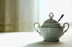 Porcelain sugar-basin Royalty Free Stock Images