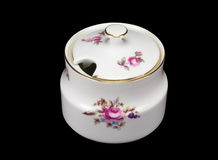 Porcelain sugar bowl Royalty Free Stock Photography