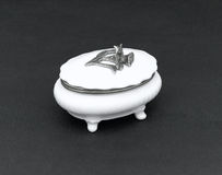 Porcelain sugar bowl with a lid Royalty Free Stock Photos
