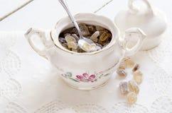Porcelain sugar bowl Royalty Free Stock Photo