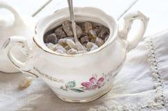Porcelain sugar bowl Stock Image