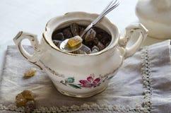 Porcelain sugar bowl Stock Photos