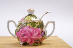 Porcelain Sugar Bowl Stock Photo
