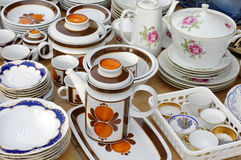 Porcelain tableware retro Royalty Free Stock Image
