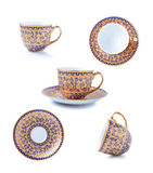 Porcelain tea cup on white background Stock Photography