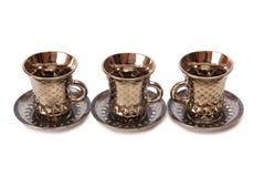 Porcelain tea cups eight Stock Images