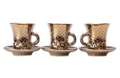 Porcelain tea cups seven Stock Photography