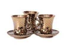 Porcelain tea cups six Royalty Free Stock Photo