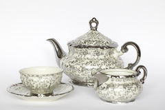 Porcelain tea set Royalty Free Stock Photo