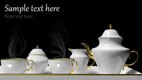 Porcelain tea set Stock Image