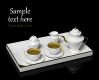 Porcelain tea set Royalty Free Stock Images