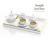 Porcelain tea set Stock Images