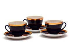 Porcelain tea set Stock Photo