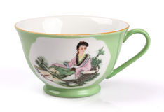 Porcelain teacup. In classic isolated on white Stock Photo