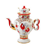 Porcelain teapot Stock Images
