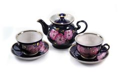 Porcelain teapot Royalty Free Stock Images