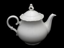 Porcelain teapot Stock Images