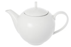 Porcelain teapot isolated Royalty Free Stock Image