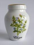 Porcelain thyme Jar Stock Photography