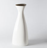 Porcelain vase. Chinese porcelain vase on white background Stock Images
