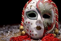 Porcelain Venetian mask Royalty Free Stock Images